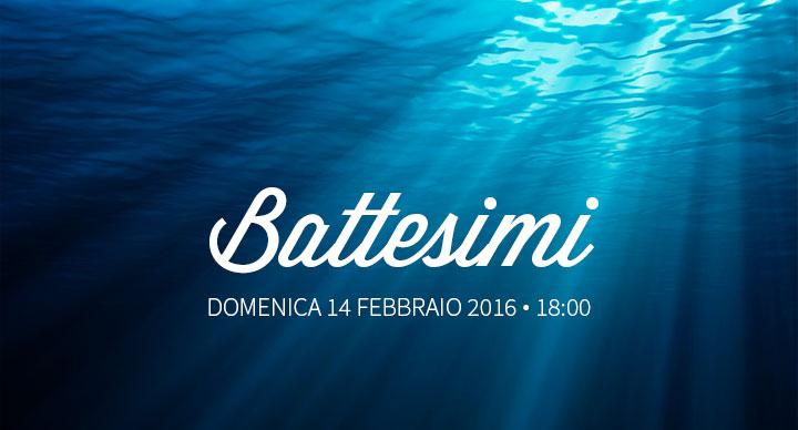 Battesimi 14 Febbraio 2016 | Comunità Cristiana Evangelica Montesarchio
